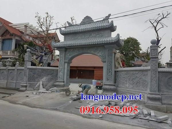 Mẫu cổng nhà thờ họ từ đường đình đền chùa miếu bằng đá tự nhiên tại Bà Rịa Vũng Tàu