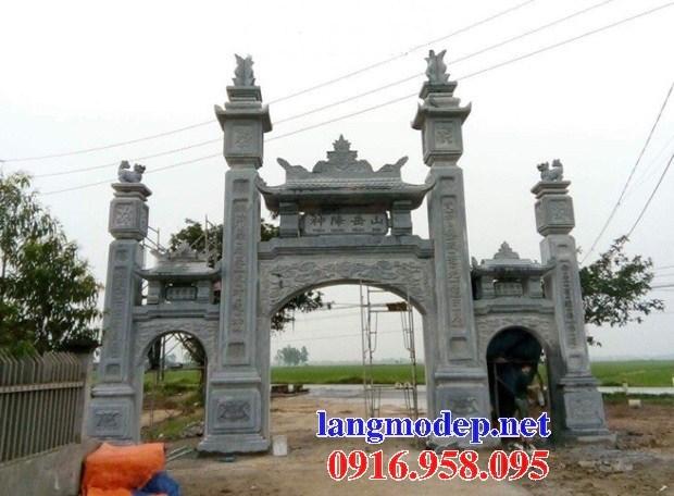Mẫu cổng tam quan đình đền chùa miếu nhà thờ họ từ đường bằng đá kích thước chuẩn phong thủy tại Ninh Bình