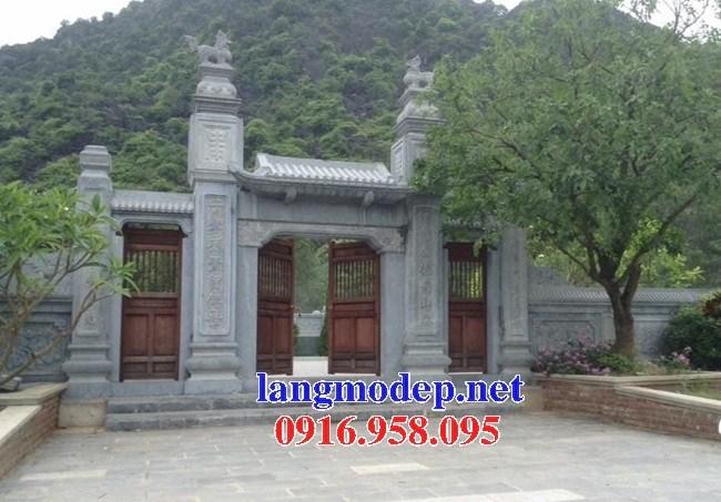 Mẫu cổng tam quan đình đền chùa miếu nhà thờ họ từ đường bằng đá tại Ninh Bình