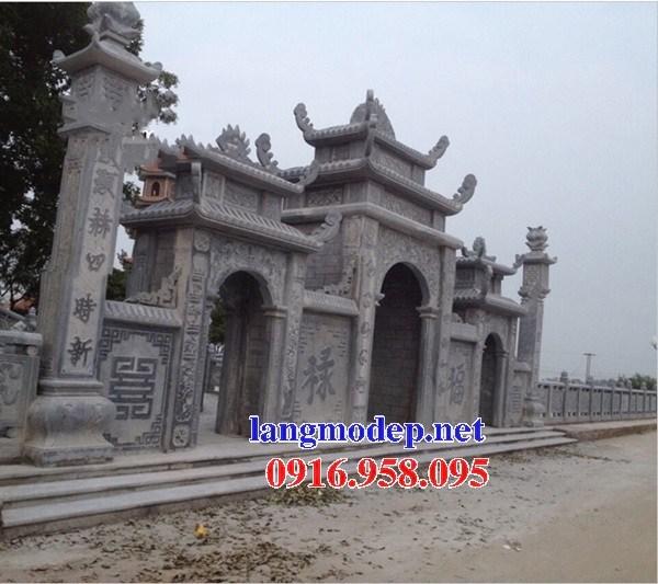Mẫu cổng tam quan đình đền chùa miếu nhà thờ họ từ đường bằng đá tự nhiên tại Ninh Bình