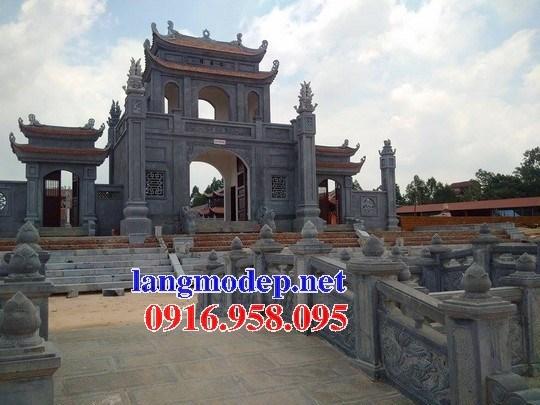 Mẫu cổng tam quan đình đền chùa miếu nhà thờ họ từ đường khu lăng mộ bằng đá tại Ninh Bình