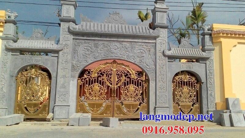 Mẫu cổng tam quan nhà thờ họ từ đường đình đền chùa miếu bằng đá đẹp tại Bà Rịa Vũng Tàu