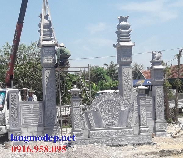 Mẫu cổng tam quan nhà thờ họ từ đường đình đền chùa miếu bằng đá tại Bà Rịa Vũng Tàu