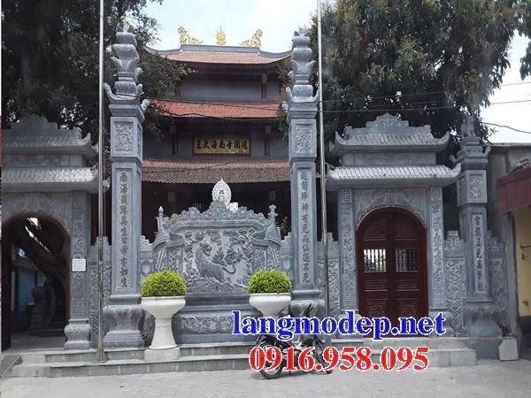 Mẫu cổng tam quan nhà thờ họ từ đường đình đền chùa miếu bằng đá thiết kế đẹp tại Bà Rịa Vũng Tàu