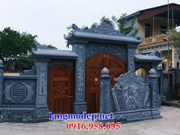 Mẫu cổng tam quan nhà thờ họ từ đường đình đền chùa miếu bằng đá xanh tự nhiên tại Bà Rịa Vũng Tàu