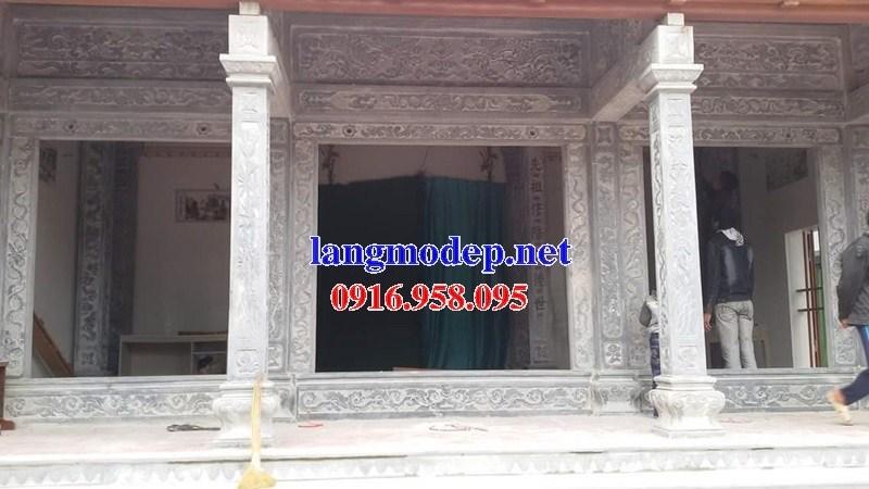 Mẫu cột đá đồng trụ nhà thờ họ đình đền chùa miếu bằng đá Ninh Bình tại Cần Thơ