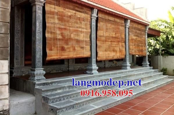Mẫu cột đá đồng trụ nhà thờ họ đình đền chùa miếu bằng đá Ninh Bình tại Trà Vinh