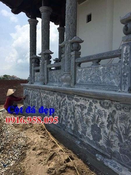 Mẫu cột đá đồng trụ nhà thờ họ đình đền chùa miếu bằng đá chạm khắc hoa văn tinh xảo tại Cần Thơ