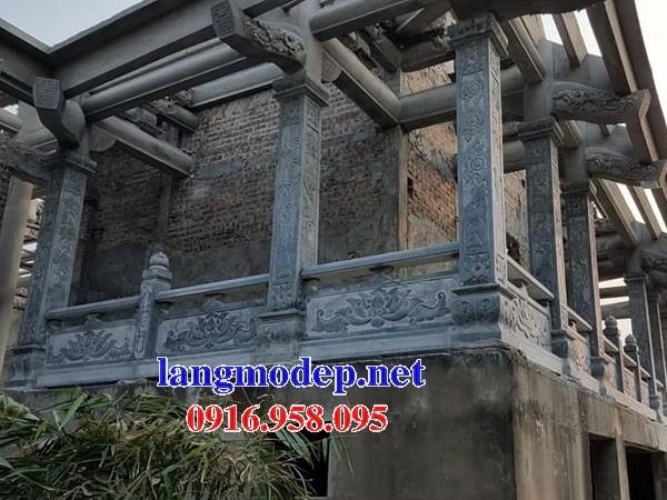 Mẫu cột đá đồng trụ nhà thờ họ đình đền chùa miếu bằng đá kích thước chuẩn phong thủy tại Hậu Giang