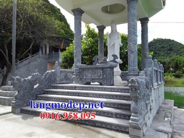Mẫu cột đá đồng trụ nhà thờ họ đình đền chùa miếu bằng đá mỹ nghệ tại Cần Thơ