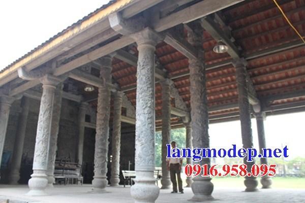 Mẫu cột đá đồng trụ nhà thờ họ đình đền chùa miếu bằng đá mỹ nghệ tại Hậu Giang