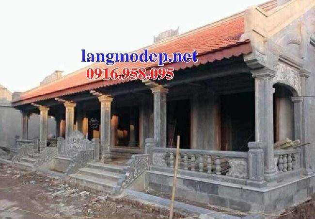 Mẫu cột đá đồng trụ nhà thờ họ đình đền chùa miếu bằng đá tại Trà Vinh
