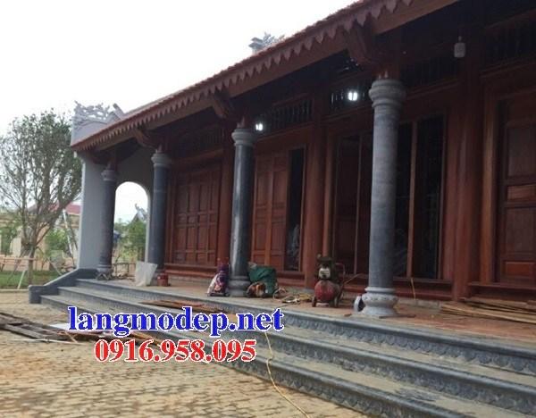 Mẫu cột đá đồng trụ nhà thờ họ đình đền chùa miếu bằng đá tự nhiên cao cấp tại Trà Vinh