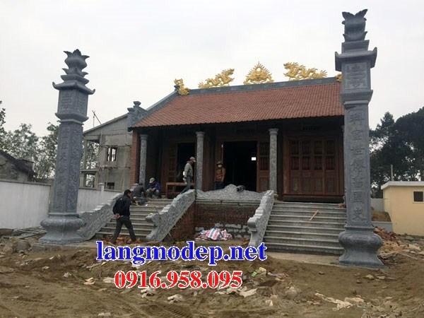 Mẫu cột đá đồng trụ nhà thờ họ đình đền chùa miếu bằng đá thiết kế đẹp tại Bắc Kạn