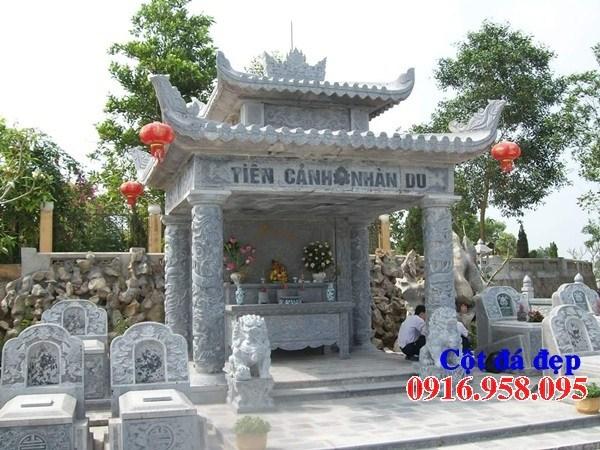 Mẫu cột đá đồng trụ nhà thờ họ đình đền chùa miếu bằng đá thiết kế hiện đại tại Cà Mau