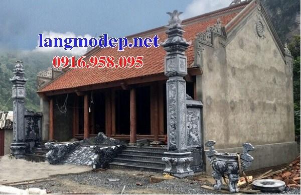 Mẫu cột đá đồng trụ nhà thờ họ đình đền chùa miếu bằng đá thiết kế hiện đại tại Hậu Giang