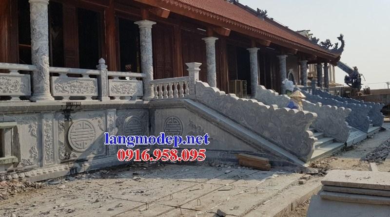 Mẫu cột đá đồng trụ nhà thờ họ đình chùa miếu bằng đá Thanh Hóa tại Long An