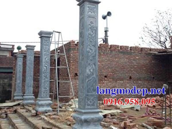 Mẫu cột đá đồng trụ nhà thờ họ đình chùa miếu bằng đá kích thước chuẩn phong thủy tại Long An
