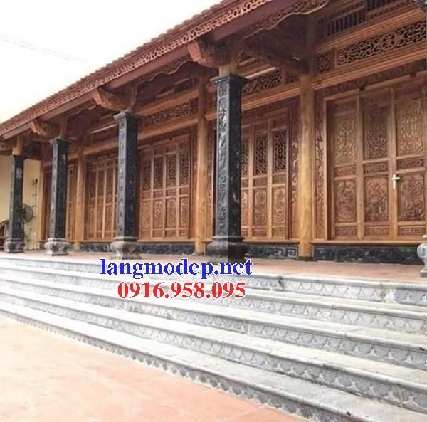 Mẫu cột đá đồng trụ nhà thờ họ đình chùa miếu bằng đá tự nhiên cao cấp tại Sóc Trăng