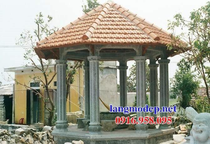 Mẫu cột đá đồng trụ nhà thờ họ đình chùa miếu bằng đá thiết kế hiện đại tại Sóc Trăng