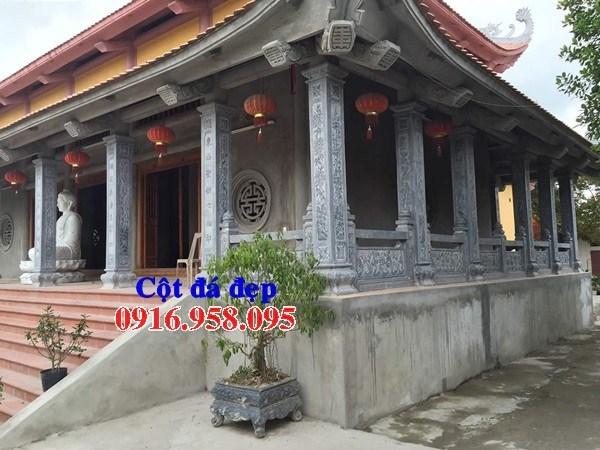 Mẫu cột đá đồng trụ nhà thờ họ bằng đá Ninh Bình tại Long An