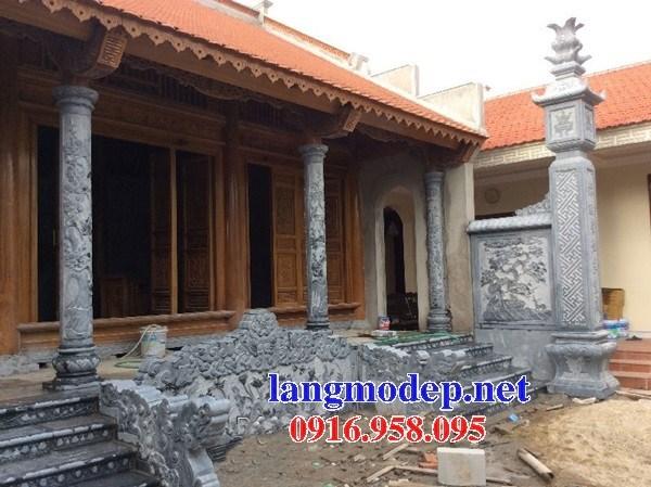 Mẫu cột đá đồng trụ nhà thờ họ bằng đá tại Trà Vinh