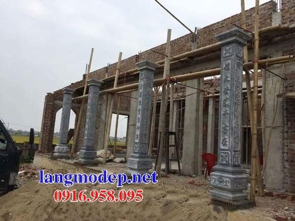 Mẫu cột đá đồng trụ nhà thờ họ chùa miếu bằng đá Thanh Hóa tại Ninh Bình