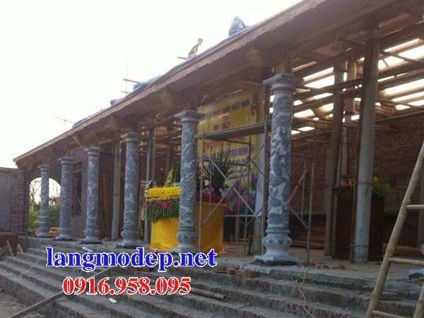 Mẫu cột đá đồng trụ nhà thờ họ chùa miếu bằng đá chạm khắc tinh xảo tại Ninh Bình