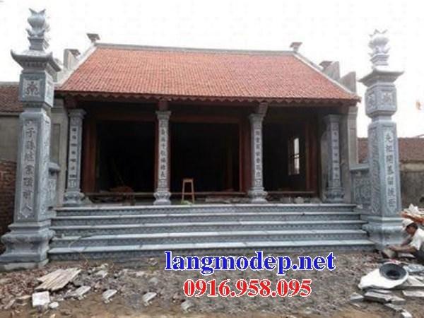 Mẫu cột đá đồng trụ nhà thờ họ chùa miếu bằng đá mỹ nghệ tại Ninh Bình