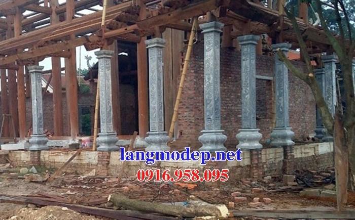 Mẫu cột đá đồng trụ nhà thờ họ chùa miếu bằng đá tại Ninh Bình
