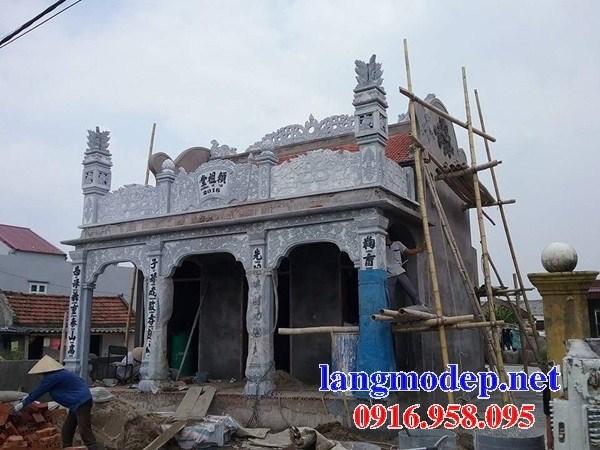 Mẫu cột đá đồng trụ nhà thờ họ chùa miếu bằng đá tự nhiên cao cấp tại Ninh Bình