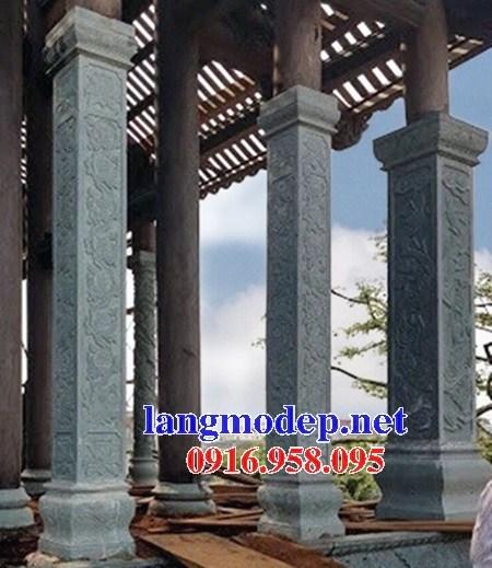 Mẫu cột đá đồng trụ nhà thờ họ chùa miếu bằng đá tự nhiên tại Ninh Bình