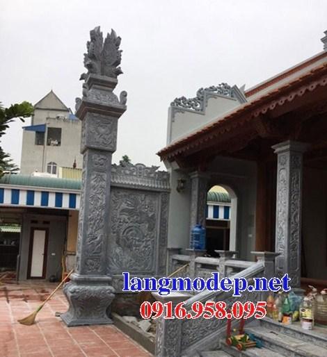 Mẫu cột đá đồng trụ nhà thờ họ chùa miếu bằng đá thiết kế đẹp tại Ninh Bình