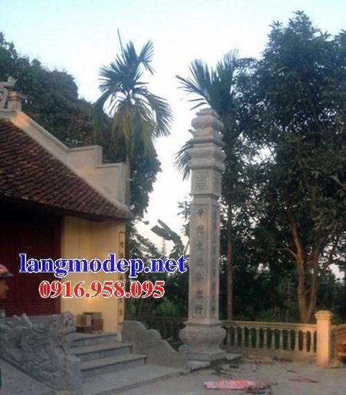 Mẫu cột đá đồng trụ nhà thờ họ chùa miếu bằng đá thiết kế cơ bản tại Ninh Bình
