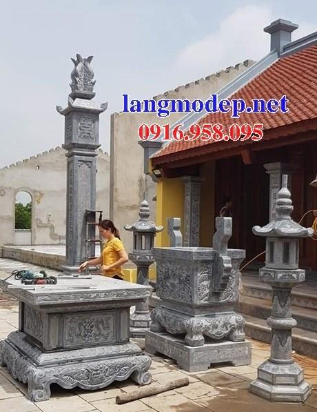 Mẫu hình ảnh cột đá đồng trụ nhà thờ họ đình đền chùa miếu bằng đá tại Cà Mau
