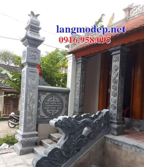 Mẫu hình ảnh cột đá đồng trụ nhà thờ họ đình chùa miếu bằng đá tại Long An