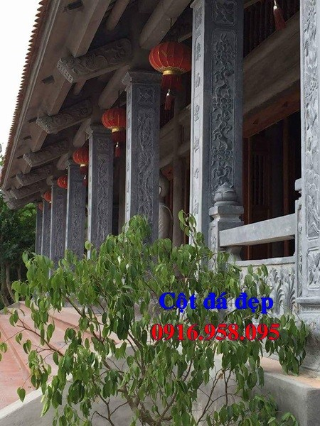 Cột đá cột hiên nhà thờ họ từ đường đình đền chùa miếu bằng đá tại Tây Ninh