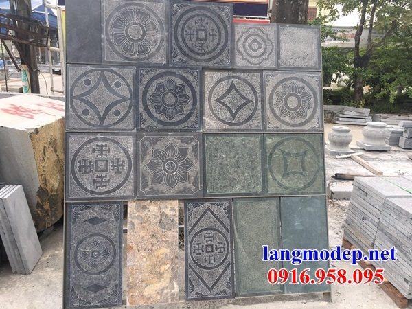 Mẫu đá lát nền nhà thờ họ từ đường đình đền bằng đá Ninh Bình tại Kiên Giang