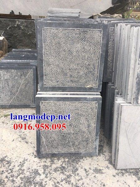 Mẫu đá lát nền nhà thờ họ từ đường đình đền chùa bằng đá Ninh Bình tại Cà Mau