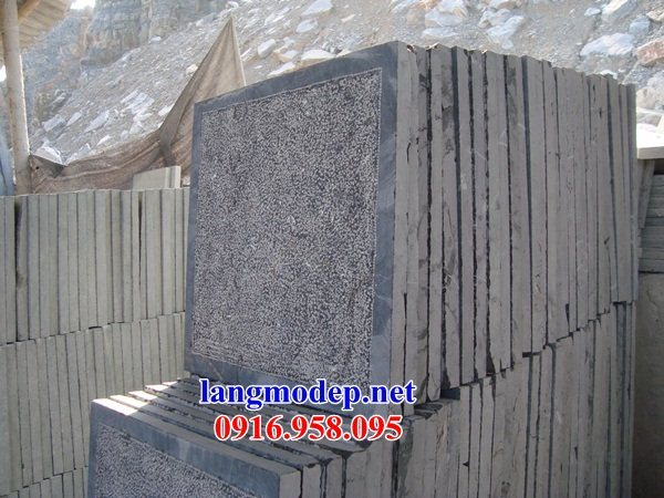 Mẫu đá lát nền nhà thờ họ từ đường đình đền chùa bằng đá nguyên khối tại Cà Mau