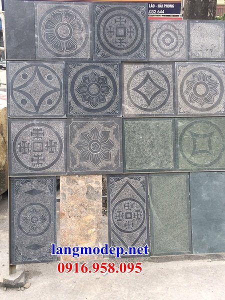Mẫu đá lát nền nhà thờ họ từ đường đình đền chùa bằng đá thiết kế hiện đại tại Cà Mau