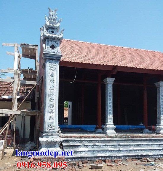 Mẫu đá lát nền từ đường nhà thờ họ đình chùa bằng đá thi công lắp đặt tại Hậu Giang