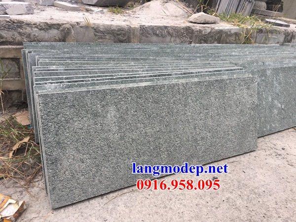 Mẫu đá lát nền từ đường nhà thờ họ chùa miếu bằng đá nguyên khối tại Đồng Tháp