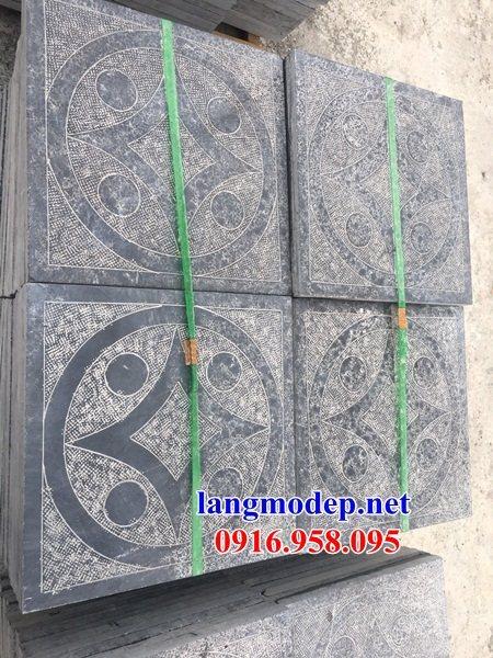 Mẫu đá lát nền từ đường nhà thờ họ chùa miếu bằng đá tại Ninh Bình