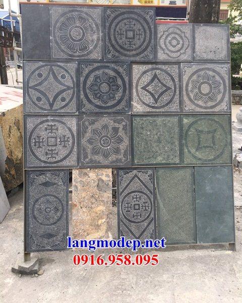 Mẫu đá lát nền từ đường nhà thờ họ chùa miếu bằng đá thi công lắp đặt tại Ninh Bình