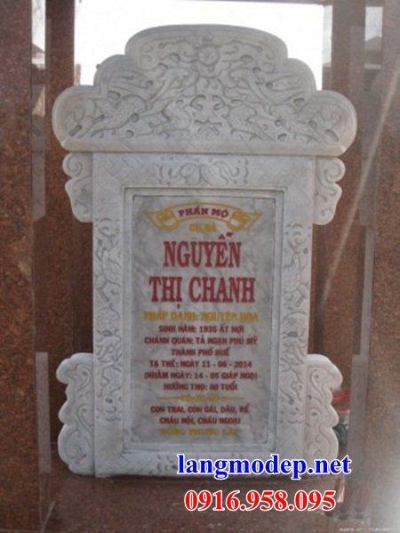 Mẫu bia ghi công danh công đức nhà thờ họ từ đường đình đền chùa miếu khu lăng mộ bằng đá trắng tại Đồng Tháp