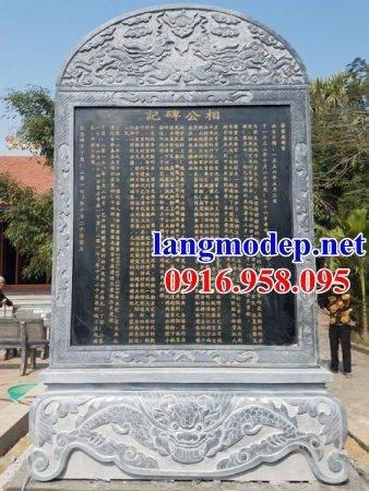 Mẫu bia ghi công danh nhà thờ họ từ đường đình đền chùa miếu bằng đá Thanh Hóa tại Đồng Tháp