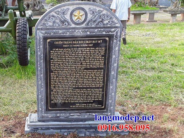 Mẫu bia ghi công danh nhà thờ họ từ đường đình đền chùa miếu bằng đá Thanh Hóa tại Cần Thơ