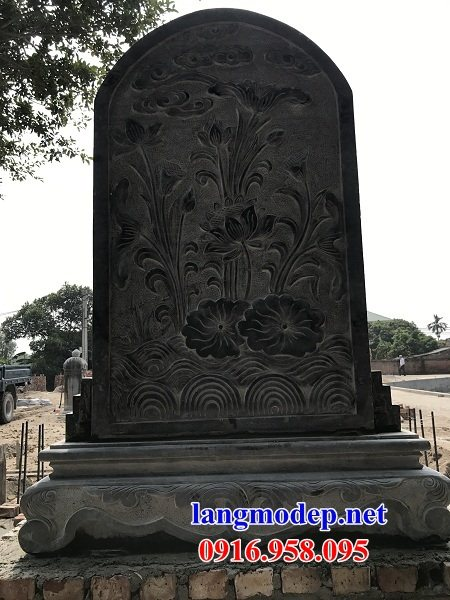 Mẫu bia ghi công danh nhà thờ họ từ đường đình đền chùa miếu bằng đá chạm khắc tinh xảo tại Cần Thơ