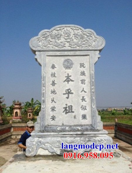 Mẫu bia ghi công danh từ đường bằng đá chạm khắc tinh xảo tại An Giang
